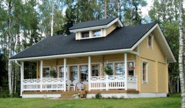 Rekreační srubový dům Cornus exteriér