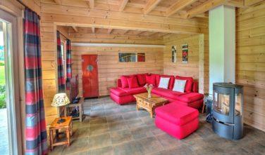 Sruby KONTIO - model Uva - obývací pokoj