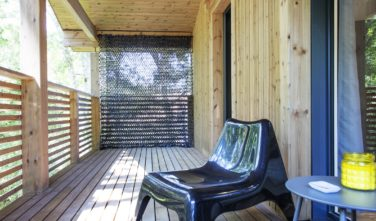 Dřevostavby Kontio Aquitaine balkon