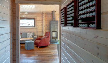 Dřevostavby Kontio bungalov na Moravě chodba