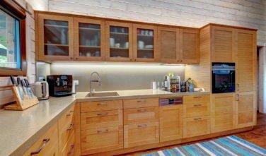 Dřevostavby Kontio bungalov na Moravě kuchyň