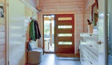 Dřevostavby Kontio bungalov na Moravě předsíň