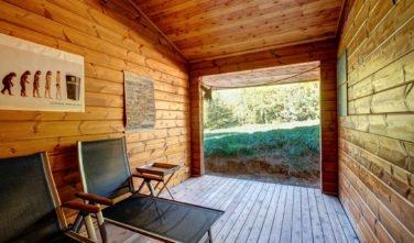 Dřevostavby Kontio bungalov na Moravě relaxační zóna