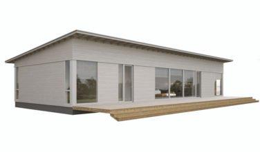 Dřevostavby Kontio Glass House TALO s pultovou střechou