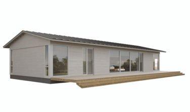 Dřevostavby Kontio Glass House TALO se sedlovou střechou