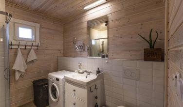 Dřevostavby Kontio chata Nalle Praha západ koupelna