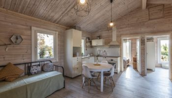 Dřevostavby Kontio chata Nalle Praha západ obývací místnost