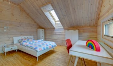 Dřevostavby Kontio srub na Šumavě dětský pokoj