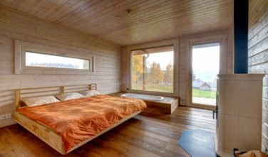 Dřevostavby Kontio srub na Šumavě ložnice