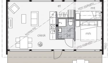 Villa-Glass-50B,-with loft_floorplan