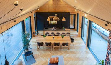 Dřevostavby Kontio SmartLog Oulunsalo obývací pokoj 2