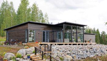 Dřevostavby Kontio Glasshouse 150 exteriér 6