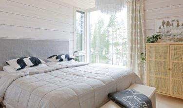 Dřevostavby Kontio Glasshouse 150 ložnice 2