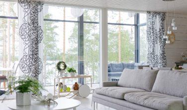 Dřevostavby Kontio Glasshouse 150 zimní zahrada, obývací pokoj