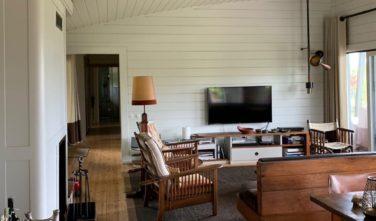 Dřevostavby Kontio bungalovy Hogsara obývací pokoj