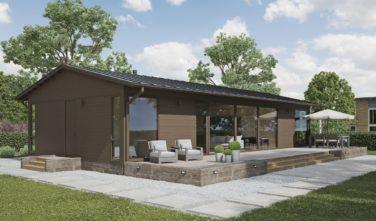 Dřevostavby Kontio Glass House TALO 126 A sedlová střecha