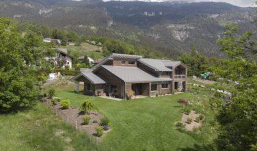 Dřevostavby Kontio rodinný dům SmartLog Švýcarsko Valais