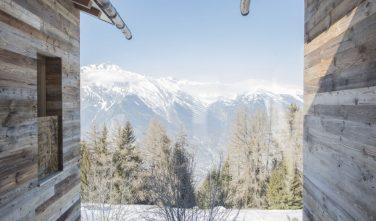 Dřevostavby KONTIO rodinný dům ve Valais výhledy