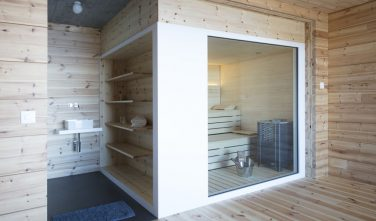 Dřevostavby KONTIO rodinný dům ve Valais sauna