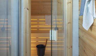 Dřevostavby KONTIO rodinný dům Iso-Kajastus v Poznani-sauna