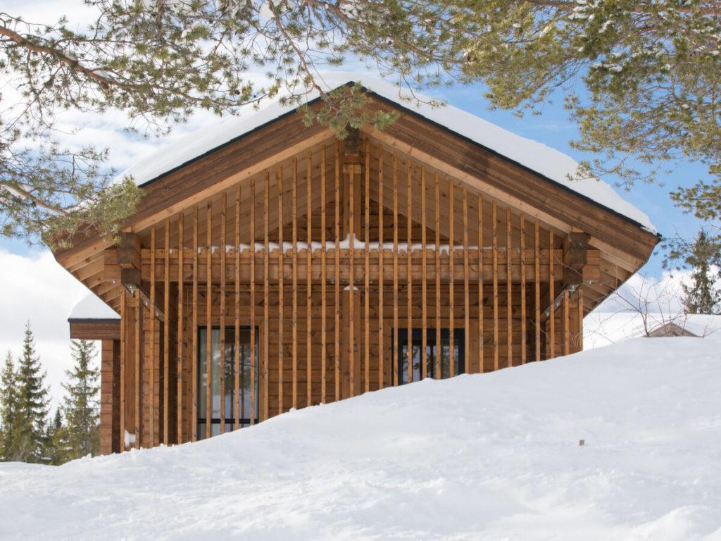 Dřevostavby KONTIO hoská chata v Norsku