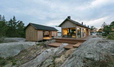 Dřevostavby KONTIO - Projekt Ö - moderní vila na ostrově - exteriér