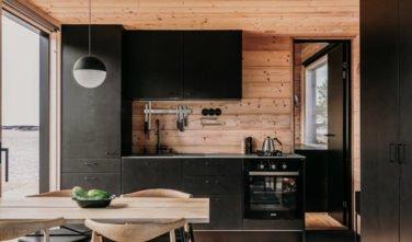 Dřevostavby KONTIO - Projekt Ö - moderní vila na ostrově - kuchyně, jídelna