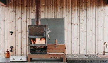 Dřevostavby KONTIO - Projekt Ö - moderní vila na ostrově - obývací pokoj