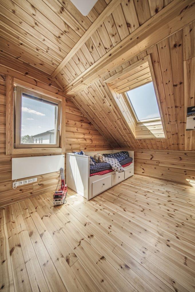 Dřevostavby KONTIO - rodinný dům Iso-Kajastus - interier - pokoj 1