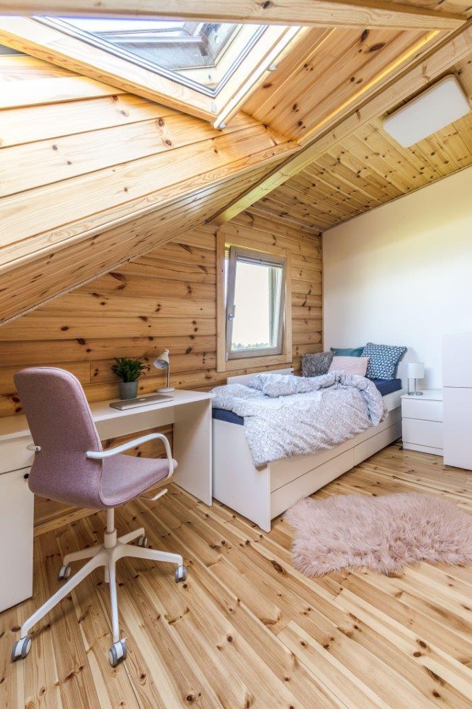 Dřevostavby KONTIO - rodinný dům Iso-Kajastus - interier - pokoj 2