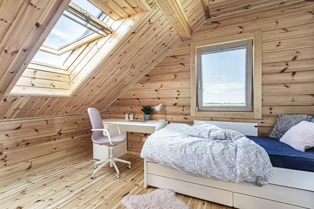 Dřevostavby KONTIO - rodinný dům Iso-Kajastus - interier - pokoj 3